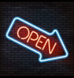 neon sign arrow vector image