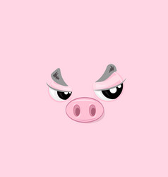 Offended piggy vector