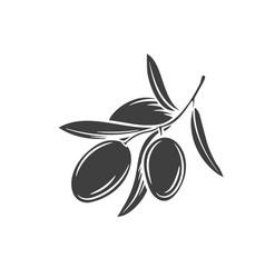 Olive glyph icon vector