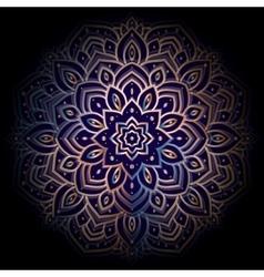 Ornament Mandala on black background vector