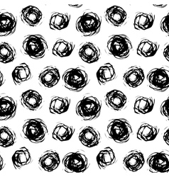 Pattern with brushed circles vector image