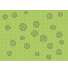 Pattern with dots and circle vector image