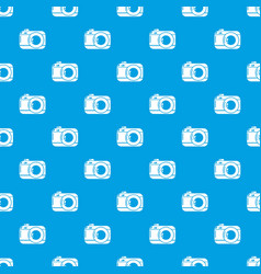 photo camera pattern seamless blue vector image