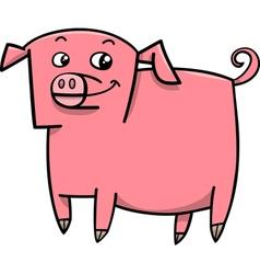 Pig farm animal cartoon vector