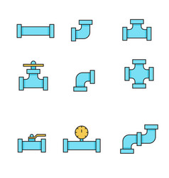 Pipes and fittings tap vector