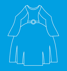Princess dress icon outline style vector