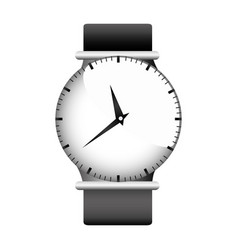 Realistic graphic with gray female wristwatch vector