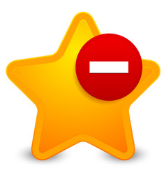 remove from favourites icon vector image
