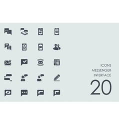Set of messenger interface icons vector
