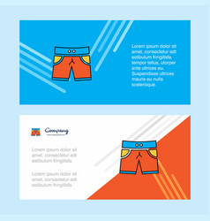 shorts abstract corporate business banner vector image