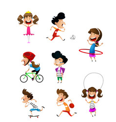 sport for kids including football basketball vector image