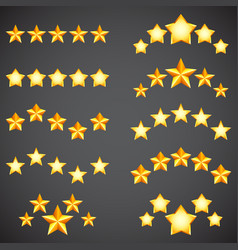 star rating icons vector image vector image