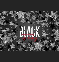 stars background black friday vector image