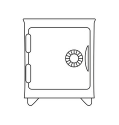 strongbox isolated symbol vector image