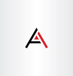 Symbol a letter icon black red logo vector