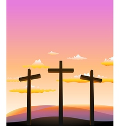 Three crosses on the Calvary vector