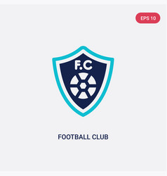 two color football club icon from football vector image