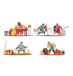 Viking cartoon compositions vector