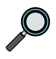 White background with colorful magnifying glass vector