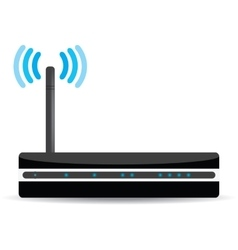 Wireless Wi-Fi router on white background vector image