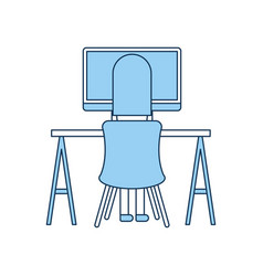 Woman working in the office vector
