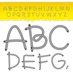 alphabet from A to Z and used pattern brushes vector image