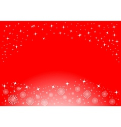 christmas background with white snowflakes and sta vector image vector image