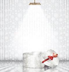 christmas gift box under spotlight 1910 vector image vector image