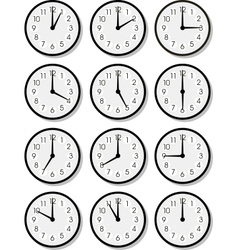 Clock faces vector