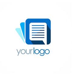 document logo vector image vector image