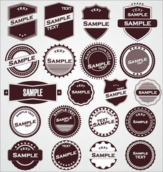 labels with retro design vector image vector image