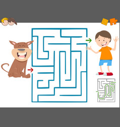 maze leisure game for kids vector image vector image