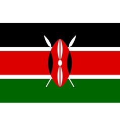 Kenyan flag vector image