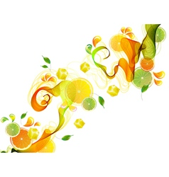 orange abstract splash vector image