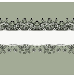 Ornate vintage label vector image