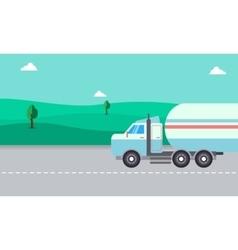 Road tanker of landscape vector
