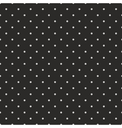 Tile pattern grey polka dots black background vector image