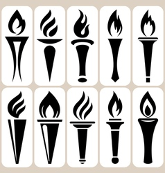 torch set vector image vector image