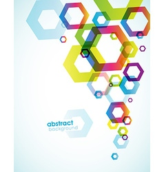 Abstract colored background with hexagon objects vector image
