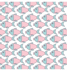 cute fish pattern isolated icon vector image
