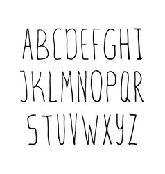 hand drawn simple alphabet vector image