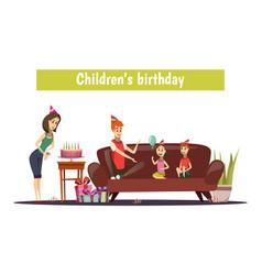 Kids birthday composition vector