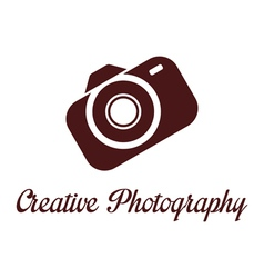 Photographer studio logo template vector image