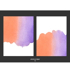 red and purple watercolor background vector image vector image