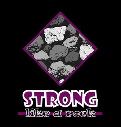 strong like a rock abstract violet style flat vector image vector image