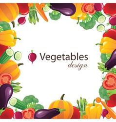 Vegetables frame for your designs - vector