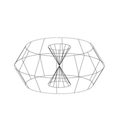3d wireframe render object vector