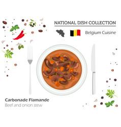 belgian cuisine european national dish collection vector image
