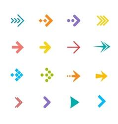 colorful arrows set Flat Design vector image vector image
