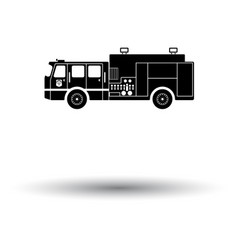 fire service truck icon vector image vector image